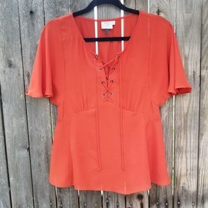 Anthropologie HD in Paris  palo alto lace up top